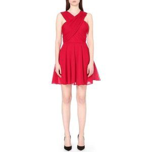 The Kooples red Crossover-neck crepon dress S